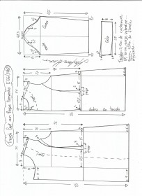 Esquema de modelagem de trench coat tamanho EGG.
