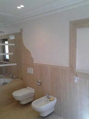 rivestimento bagno in Travertino