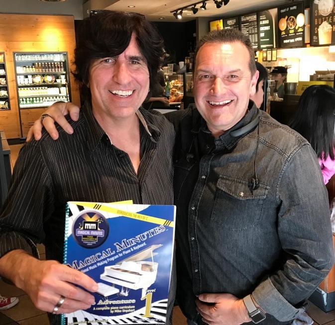 Martin Blasick & president/author Mike Urquhart