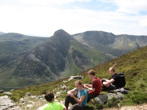 Views of Tryfan from Pen yr Ole Wen