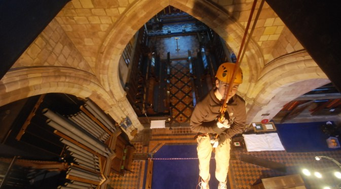Indoor Church Abseil