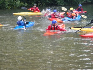 Some experienced more success at Kayak Polo than others!
