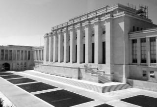 Le Palais des Nations, à Genève, ancien siège de la SDN où sont déposées les archives de cette dernière.