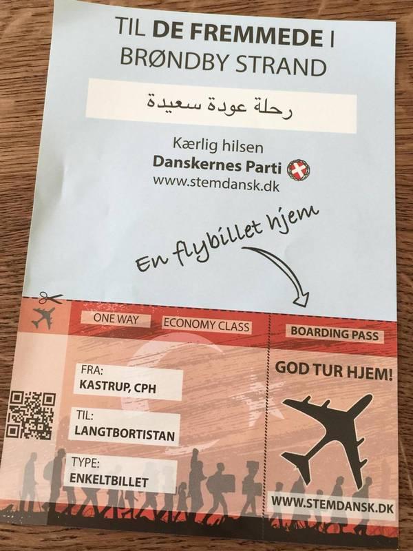 danskernes parti flyer