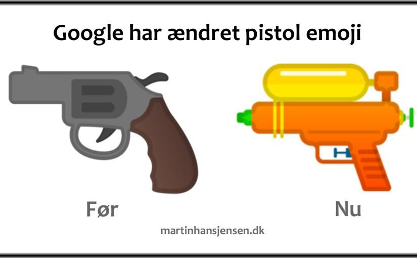 Google ændrer pistol emoji