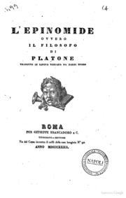 Platone: Epinomide