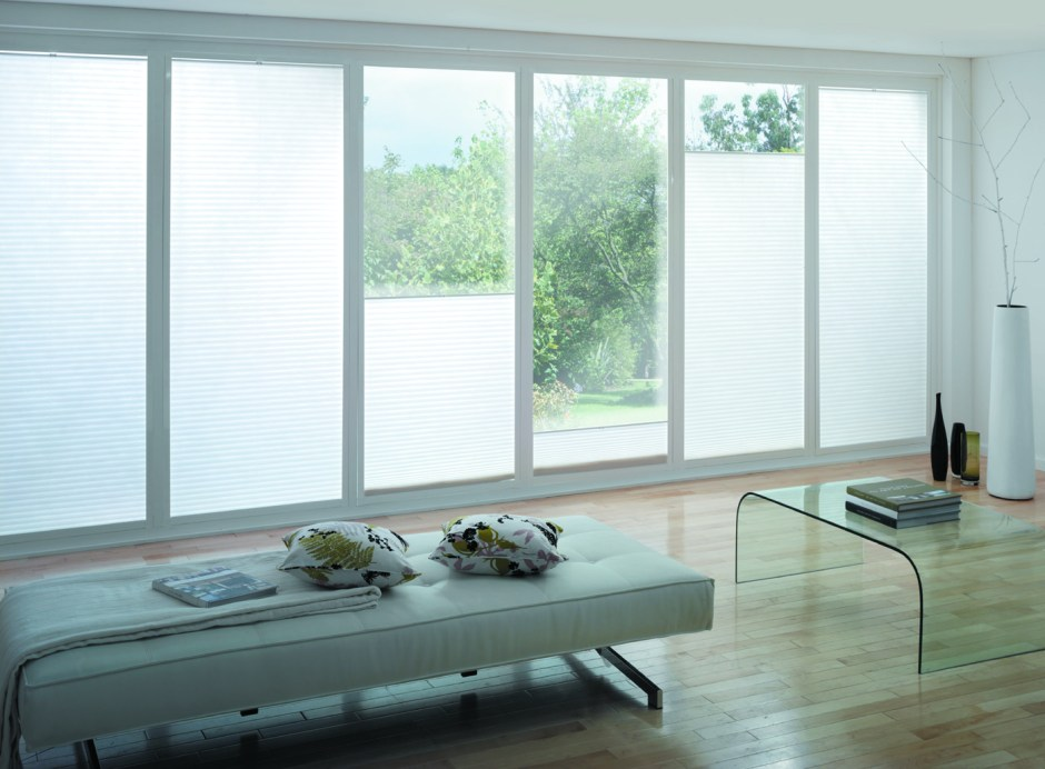 white pleated perfect fit blinds