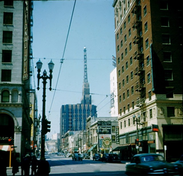 Richfield building in color, downtown Los Angeles