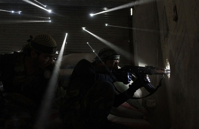 war in Syria bullet holes