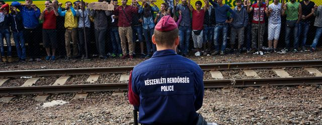 Striking Syrians at the Budapest Keleti railway, September 2015 (Image credit