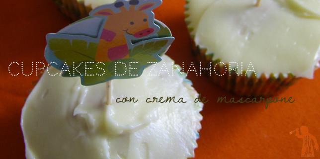 Cupcakes de zanahoria con crema de queso mascarpone slider