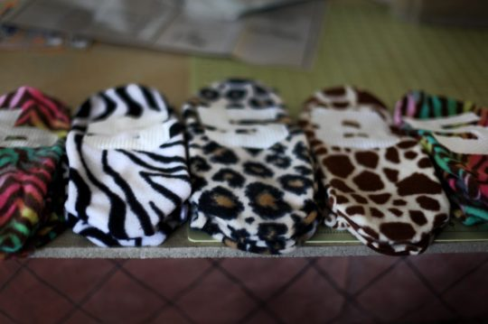 fleece animal print socks football numbers