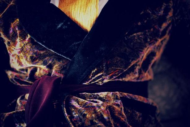 Black Maroon Velvet Smoking Jacket Gomez Addams Family