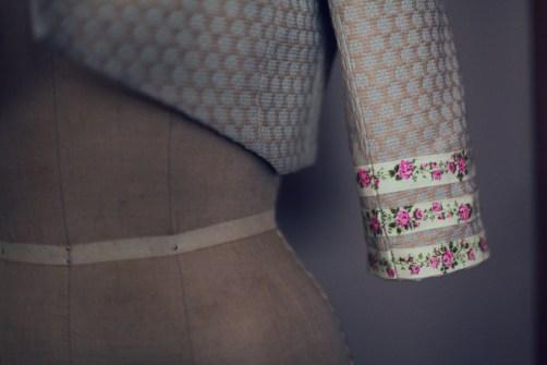 Floral strapless vintage bolero easter dress marusya