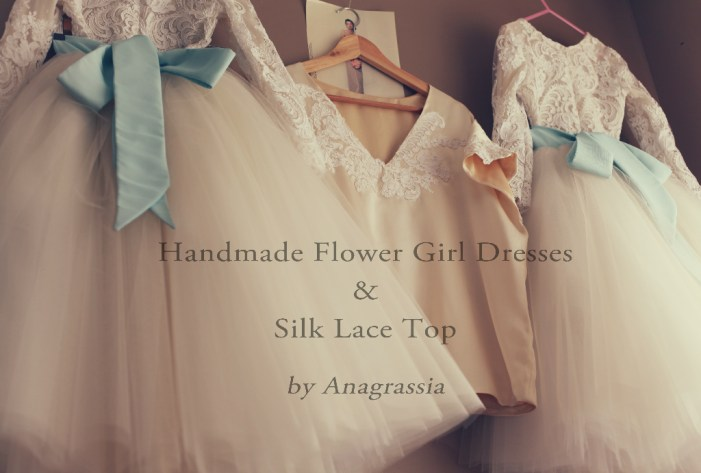 silk lace top flower girl dress white lace leotard and tulle champagne skirt