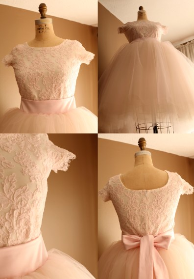 Blush Pink Tulle Skirt and Lace leotard Adult wedding