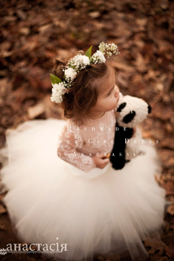 Alencon, ivory, white, lace, leotard, bridal, wedding, flower, girl, dress, blush, onesie, fall, winter, champagne, black, communion, tulle, tutu, floral, crown, anagrassia