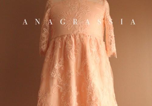 easter dress blush pink silk lace