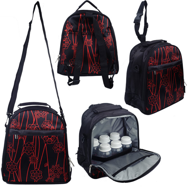 Autumnz - Classique Cooler Bag with *FREE GIFT* (Black Red Vine)