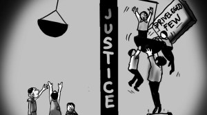 Justice for priviliged few cartoon