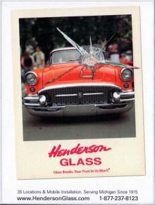 Auto glass ad for Dream Cruise publication