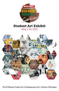Black History Moments on Canvas program booklet cover, 2015