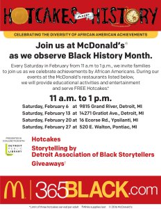 Hotcakes and History promoting Black History Month