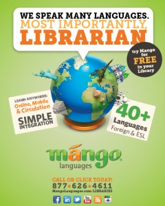 Online language learning campaign targeting libraries