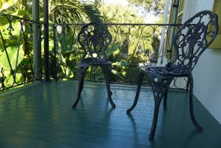 chairs on the balcony
