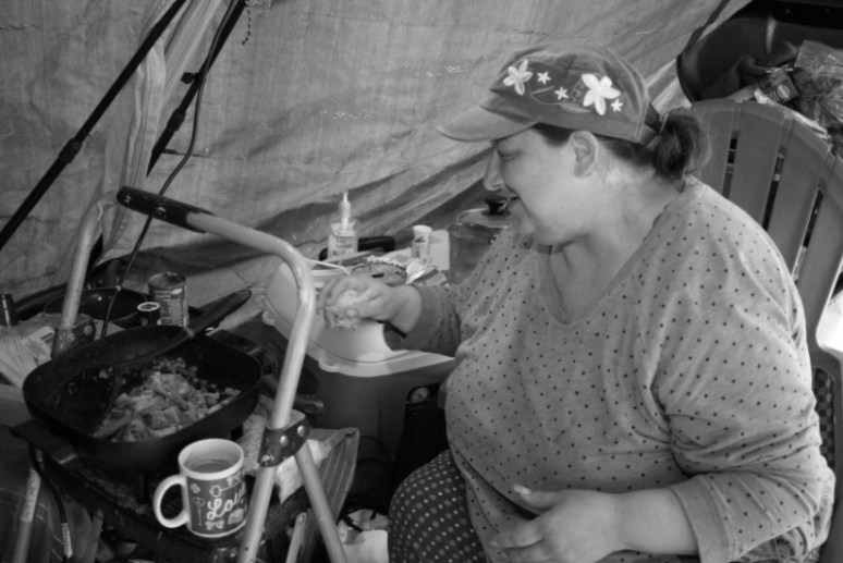 Katie is homeless with her husband. Photo by Mary Anne Funk