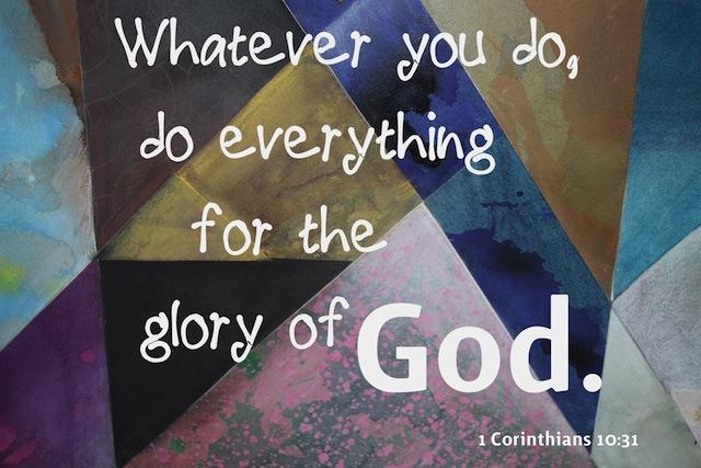 1 Cor 10 31