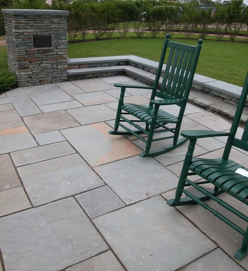 Medium Of Blue Stone Patio