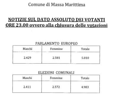votanti 2014