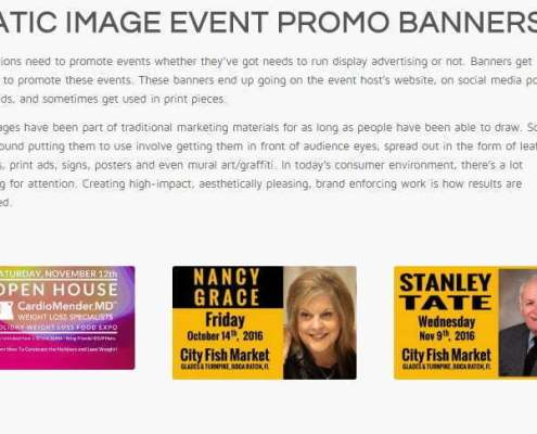 event promo banners