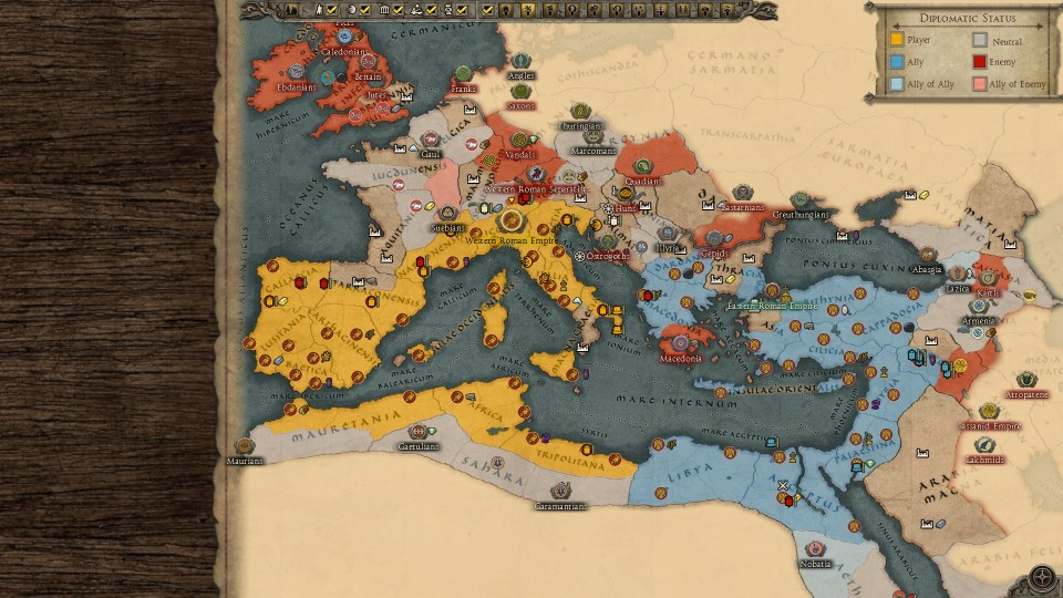 29 turns in, the Western Empire is still clinging to life.
