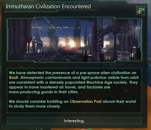 Stellaris - Immathurans encountered