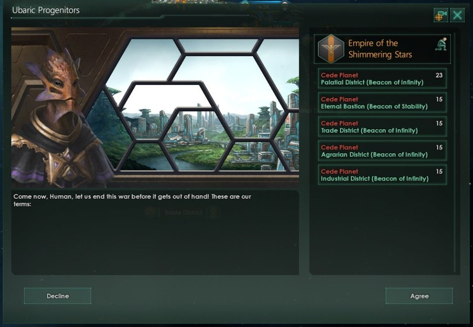 Stellaris defeated Ubaric