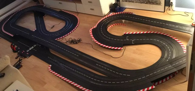 Streckenlayout für 17,80m Carrerabahn auf 4,60×1,60m