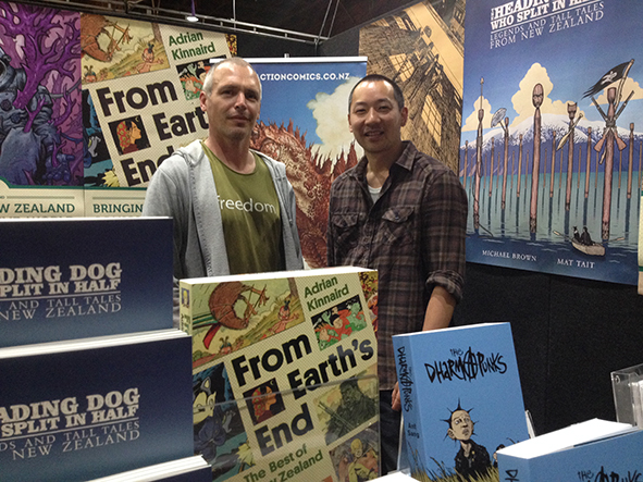 With Ant Sang at the Earth's End Publishing and Faction Comics booth, AK Armageddon 2015.