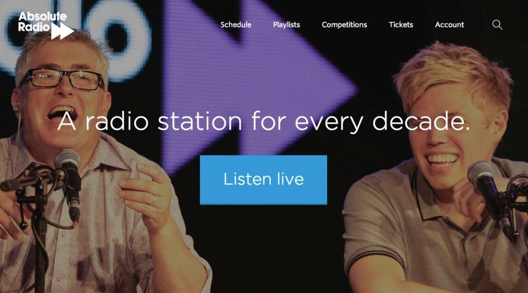 Absolute Radio Website
