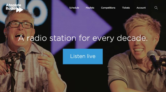 Absolute Radio's Website and Radio's Business Model