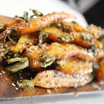 roasted carrots with dukkah