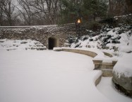 The stone bridge at the Grotto