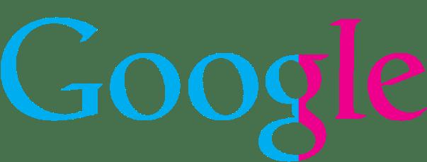 Google logo visualizing gender diversity