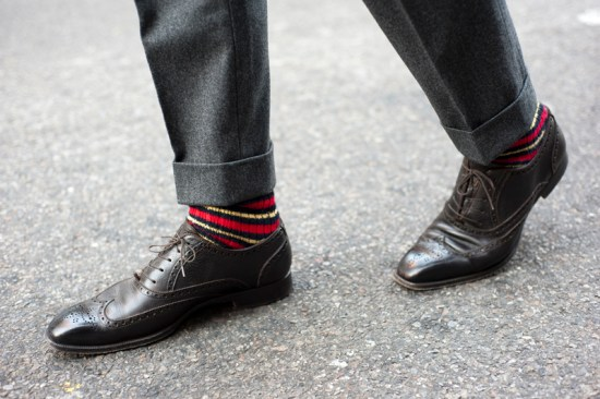 bold sock with gray suit Top 10 trendy staple pieces