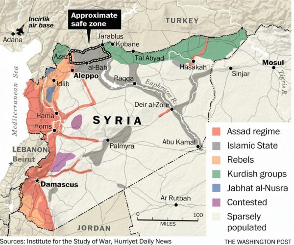 safe zone siria