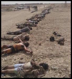 Jihadisti caduti nella fallita controffensiva di Aleppo.