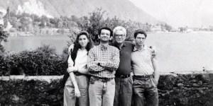 Sergio Mattarella con i figli Laura, Francesco e Bernardo .