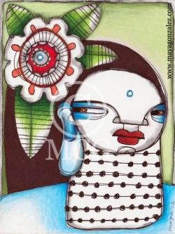 Chicana Buddha with Neck Beads