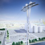 An artist's impression of the cable car scheme. Image: TfL